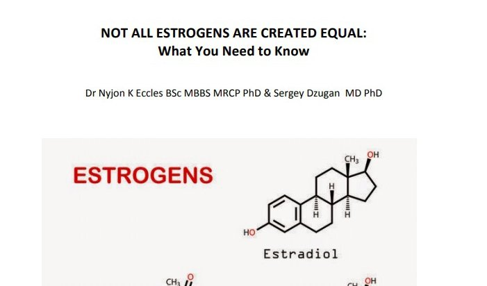 Not All Estrogenes Are Created Equal